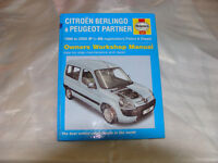 Citroen Berlingo / Peugeot Partner Haynes Owners Workshop Manual