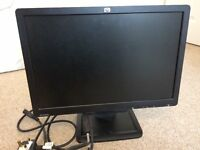 "19"" HP Widescreen LCD Monitor for PC/Laptop including cables"