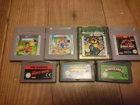 8 Retro Gameboy Games. GBA. Nintendo. GB, Color, GBA.