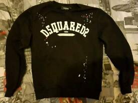 dsquared jumper and t-shirt size medium