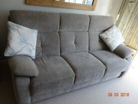 Sofa, 3 seat, taupe coloured, 2 year old for sale
