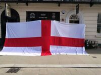Huge Large St. George's Cross England English Flag 7m x 3m Football Rugby