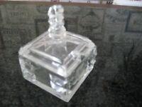 SMALL DECORATIVE GLASS DISH