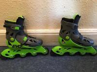 EVO inline skates adjustable size 13J-3