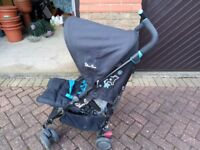 USED SILVER CROSS DARK GREAY TODDLER PUSH CHAIR FOR