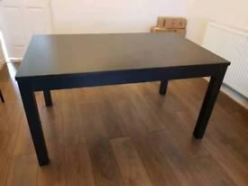 Ikea black-brown table