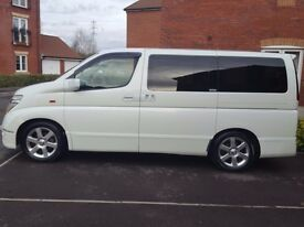 Fresh import Nissan ELgrand 3.5, 8 seater, excellent condition, half leather seats,clean interior
