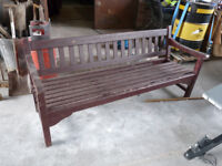 Large Garden Bench - Can deliver locally for a fee