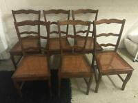 6 Willis and Gambier Walnut Dining Chairs