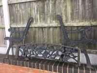 Lovely Old Rose & Vine Design Cast Iron Garden Bench 6 Sets Available- CAN DELIVER