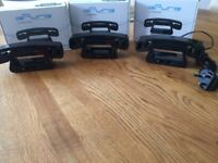 Swiss Voice E Pure Black cordless phones, very stylish, cost £40 each selling for £15 each BARGAIN