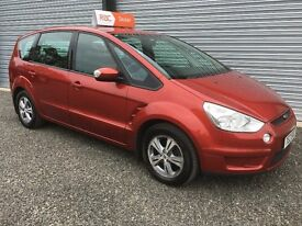 2008 FORD S MAX 1.8 TDCI 125 BHP 6 SPEED 7 SEATER FULL 12 MONTHS MOT 6 MONTHS WARRANTY