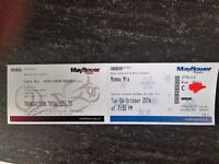 1 adult ticket for Mama Mia Mayflower Theatre, Southampton on 4th Oct 2016