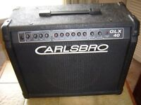 CARLSBRO GLX 40 GUITAR AMP ONE OWNER BRITISH MADE IN THE 1990s.