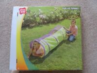 Play day children pop up tunnel soft fabric agility tunnel multicolored new