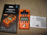Korg Pandora Stomp guitar multiprocessor / tuner
