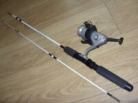 Wright & McGill BRV200 5.5 Foot Spinning Fishing Rod & Shakespeare Pro-Am 350 Reel - Great Condition