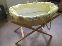Moses basket and folding stand