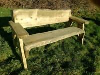 Bespoke Rustic garden bench