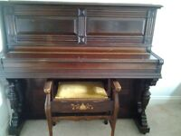 FREE! - upright piano and stool