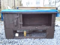 Two stage Rabbit hutch and run