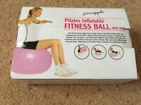 Brand new Fitness ball with dvd