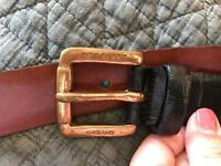 Black Congo leather belt by Mulberry - size 28
