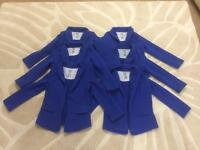 Royal blue girls cotton blazers cardigans uniform