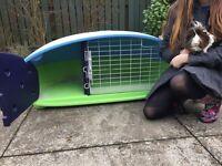 Plastic lightweight outdoor or indoor guinea pig or rabbit hutch