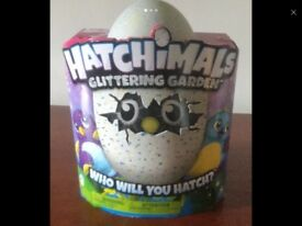Hatched hatchimal as new glitter garden draggle