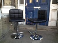 Bar stool chair swivel and hydraulic real leather X2