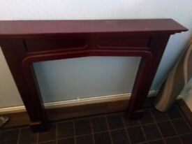 mahogany fire surround..excellant cond..£15. quick sale.