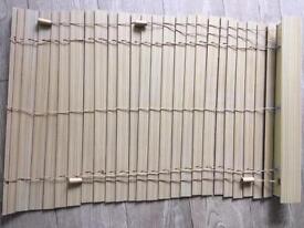 Oak effect window blind