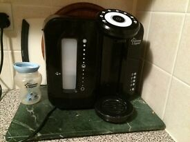 Tommee tippee bottle prep machine, excellent condition, filter included, black in colour