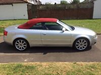 Audi A4 Cabriolet 1.8 T Sport 2dr, RED LEATHER SEAT, 6 MONTHS FREE WARRANTY, FULL SERVICE BOOK