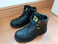 Mens CAT Boots Black Leather size 7