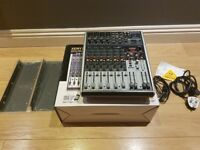Great little mixer, boxed with manual, optional rack mount kit, and leads