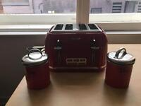Toaster and tea jars