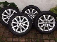 Set of 4 Mercedes alloys
