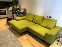 3 seater Sofa L / Chaise shape - Green - DFS Quartz / French Connection