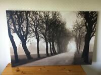 Extra Large Canvas Wall Print - tree lined avenue (118 x 78cm)