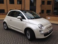 Fiat 500 1.2 Lounge Lovely Pearlescent 'Funk' White colour