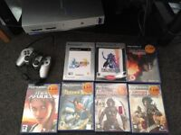 PS2 with 1 controller 2 memory cards and 7 games - once more with feeling