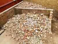 Crushed hardcore brick and stones