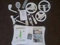 Wii fit board and wii accessories