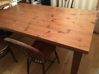 Large solid dining room/play room table