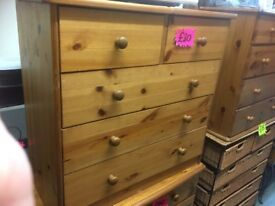Pine Chest of Drawers X Two