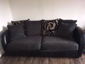 """SOFA SET - 3 Seater, 2 Seater & Storage Footstool - DFS """"Julian"""" set. - MUST GO by 24th OCT"""