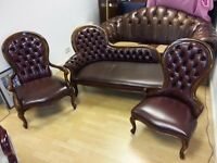 beautiful 3 piece antique chesterfield. excellent condition .