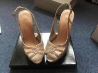 Miss KG Gold Glitter Size 6 Heels